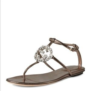 🔥100% Authentic Crystal GG Thong Sandals🔥🔥🔥🔥